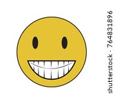 simple terrible with big teeth. | Shutterstock .eps vector #764831896