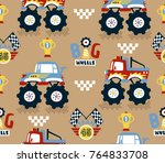 seamless pattern with vector... | Shutterstock .eps vector #764833708