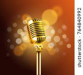 shining microphone vector... | Shutterstock .eps vector #764840992