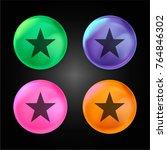 fame star crystal ball design... | Shutterstock .eps vector #764846302
