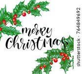 merry christmas holiday... | Shutterstock .eps vector #764849692