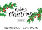 merry christmas holiday shop... | Shutterstock .eps vector #764849725