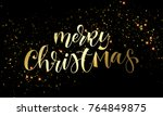 merry christmas greeting card... | Shutterstock .eps vector #764849875