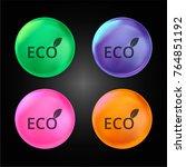 eco energy crystal ball design... | Shutterstock .eps vector #764851192