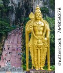 Small photo of Statue of Lord Murugan (Hindu God of War) at the Batu Caves