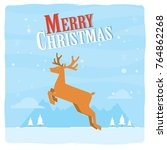 christmas greeting card with...   Shutterstock .eps vector #764862268