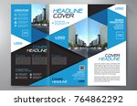 business brochure. flyer design.... | Shutterstock .eps vector #764862292