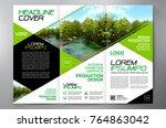 business brochure. flyer design.... | Shutterstock .eps vector #764863042