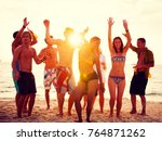 a group of diverse people is... | Shutterstock . vector #764871262