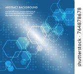 minimal design  the hexagonal...   Shutterstock .eps vector #764878678