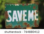 Save Me Rusty Green Plate