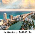 buildings of miami   florida ... | Shutterstock . vector #764889196