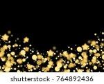 overlay stars bokeh christmas... | Shutterstock . vector #764892436