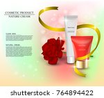 cosmetic jars of tubes and... | Shutterstock .eps vector #764894422