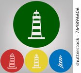 lighthouse sign illustration.... | Shutterstock .eps vector #764896606