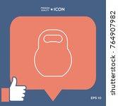 kettlebell line icon | Shutterstock .eps vector #764907982