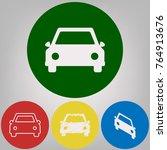 car sign illustration. vector.... | Shutterstock .eps vector #764913676