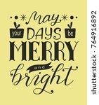 merry christmas poster  banner  ... | Shutterstock .eps vector #764916892