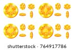 poker chips vector. card suits... | Shutterstock .eps vector #764917786