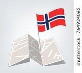 flag of norway   norway flag...   Shutterstock .eps vector #764924062