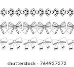 set of black and white ... | Shutterstock .eps vector #764927272