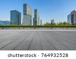 modern buildings and empty... | Shutterstock . vector #764932528
