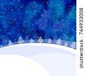 christmas card or banner... | Shutterstock . vector #764933008