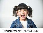 portrait of happy joyful... | Shutterstock . vector #764933332