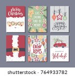 vector merry christmas and...   Shutterstock .eps vector #764933782