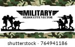 military vector illustration ... | Shutterstock .eps vector #764941186
