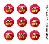 sale tags set badges template ... | Shutterstock . vector #764959768