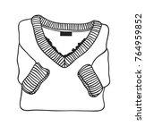 hand drawn fashion illustration.... | Shutterstock .eps vector #764959852
