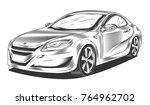 Modern Sport Car  Sedan ...