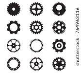 set of gear icon   Shutterstock .eps vector #764963116