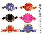 luxury premium golden badge... | Shutterstock .eps vector #764966632