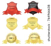 luxury premium golden badge... | Shutterstock .eps vector #764966638