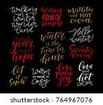 vector set of holidays... | Shutterstock .eps vector #764967076