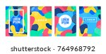 memphis style cover. background ... | Shutterstock .eps vector #764968792