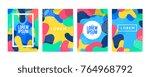 memphis style cover. background ... | Shutterstock .eps vector #764968792
