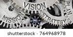 macro photo of tooth wheel... | Shutterstock . vector #764968978