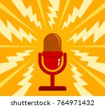 vintage vector illustration of... | Shutterstock .eps vector #764971432