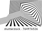 black and white stripe line... | Shutterstock .eps vector #764976526