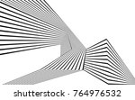 black and white stripe line... | Shutterstock .eps vector #764976532
