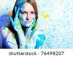 art project  beautiful woman... | Shutterstock . vector #76498207