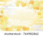decorative flower on... | Shutterstock .eps vector #764982862