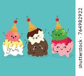 collection of ice cream | Shutterstock .eps vector #764982922
