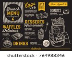 brunch food menu for restaurant ... | Shutterstock .eps vector #764988346