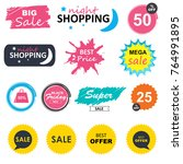 sale shopping banners. special... | Shutterstock . vector #764991895