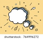 comic blank text speech bubbles ... | Shutterstock .eps vector #764996272