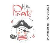 cute little bear .pirate... | Shutterstock .eps vector #764996515